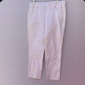 Style & Co. White Ankle Skinny Jeans Size M